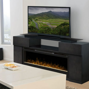 Электрический камин с телевизором