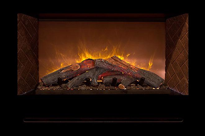 Свечение живого пламени электрического камина
